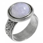 Кольцо Deno из серебра с лунным камнем 01R539MS