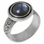 Кольцо Deno из серебра с лабрадором 01R539LB