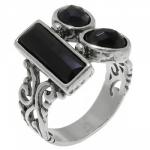 Кольцо Deno из серебра с ониксом 01R2453ON