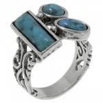 Кольцо Deno из серебра с бирюзой 01R2453TQ