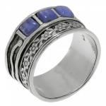 Кольцо Deno из серебра с кианитом 01R479KT