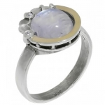 Кольцо Deno из серебра с лунным камнем MVR1536GMS