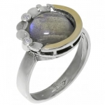 Кольцо Deno из серебра с лабрадором MVR1536GLB