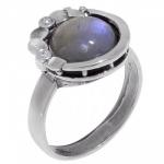 Кольцо Deno из серебра с лабрадором MVR1536LB
