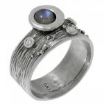 Кольцо Deno из серебра с лабрадором MVR1520LB
