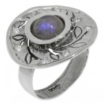 Кольцо Deno из серебра с лабрадором MVR1532LB