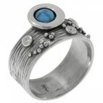 Кольцо Deno из серебра с бирюзой MVR1520TQ