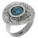 Кольцо Deno из серебра с бирюзой MVR1532TQ