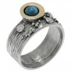 Кольцо Deno из серебра с бирюзой MVR1520GTQ