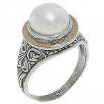 Кольцо Deno из серебра с жемчугом MVR1504GPL
