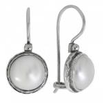 Серьги Deno из серебра с жемчугом 01E2779PL