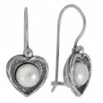 Серьги Deno из серебра с жемчугом 01E3038PL