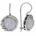 Серьги Deno из серебра с лунным камнем MVE1536MS