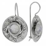Серьги Deno из серебра с лунным камнем MVE1532MS