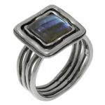 Кольцо Deno из серебра с лабрадором  01R755LB