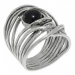 Кольцо Deno из серебра с ониксом 01R896ON