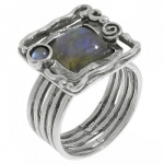 Кольцо Deno из серебра с лабрадором 01R371LB