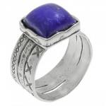 Кольцо Deno из серебра с лазуритом 01R374LZ