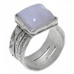 Кольцо Deno из серебра с лунным камнем 01R374MS