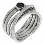 Кольцо Deno из серебра с ониксом 01R544ON