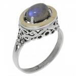 Кольцо Deno из серебра с лабрадором MVR1575GLB