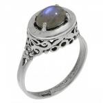 Кольцо Deno из серебра с лабрадором MVR1575LB