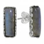 Серьги Deno из серебра с лабрадором 01E3010LB