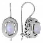 Серьги Deno из серебра с лунным камнем MVE1575MS