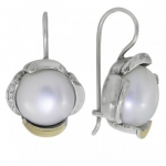 Серьги Deno из серебра с жемчугом MVE1584GPL