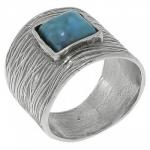 Кольцо Deno из серебра с бирюзой 01R2557TQ