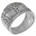 Кольцо Deno из серебра 01R646