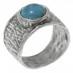 Кольцо Deno из серебра с бирюзой 01R2646TQ
