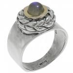 Кольцо Deno из серебра с лабрадором MVR1652GLB