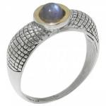 Кольцо Deno из серебра с лабрадором MVR1653GLB