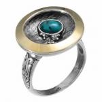 Кольцо Deno из серебра с бирюзой MVR1595GTQ