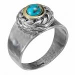 Кольцо Deno из серебра с бирюзой MVR1652GTQ