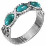 Кольцо Deno из серебра с бирюзой 01R2770TQ