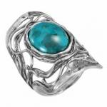 Кольцо Deno из серебра с бирюзой 01R2464TQ