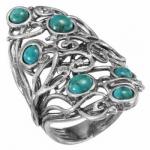 Кольцо Deno из серебра с бирюзой 01R2785TQ