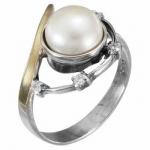 Кольцо Deno из серебра с жемчугом MVR1630GPL