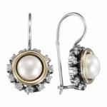 Серьги Deno из серебра с жемчугом MVE1655GPL