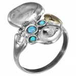 Кольцо Deno из серебра с опалом MVR804GOP