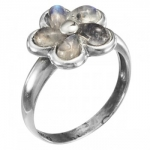 Кольцо Deno из серебра с лунным камнем MVR1649MS