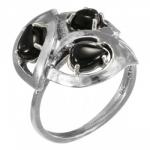 Кольцо Deno из серебра с ониксом MVR1629ON
