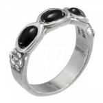 Кольцо Deno из серебра с ониксом 01R2770ON