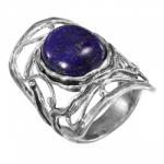 Кольцо Deno из серебра с лазуритом