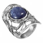 Кольцо Deno из серебра с кианитом 01R2464KT