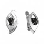 Серьги Deno из серебра с ониксом MVE1629ON