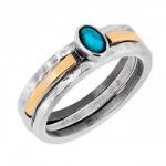 Кольцо Deno из серебра с бирюзой и золотом MVR1770/2GTQ