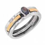 Кольцо Deno из серебра с лабрадором и золотом MVR1770/2GLB